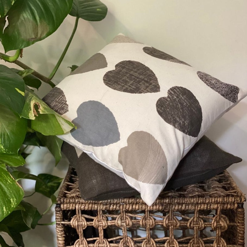 Cushion Cover - Hearts-HOME ACCESSORIES-PropShop24.com