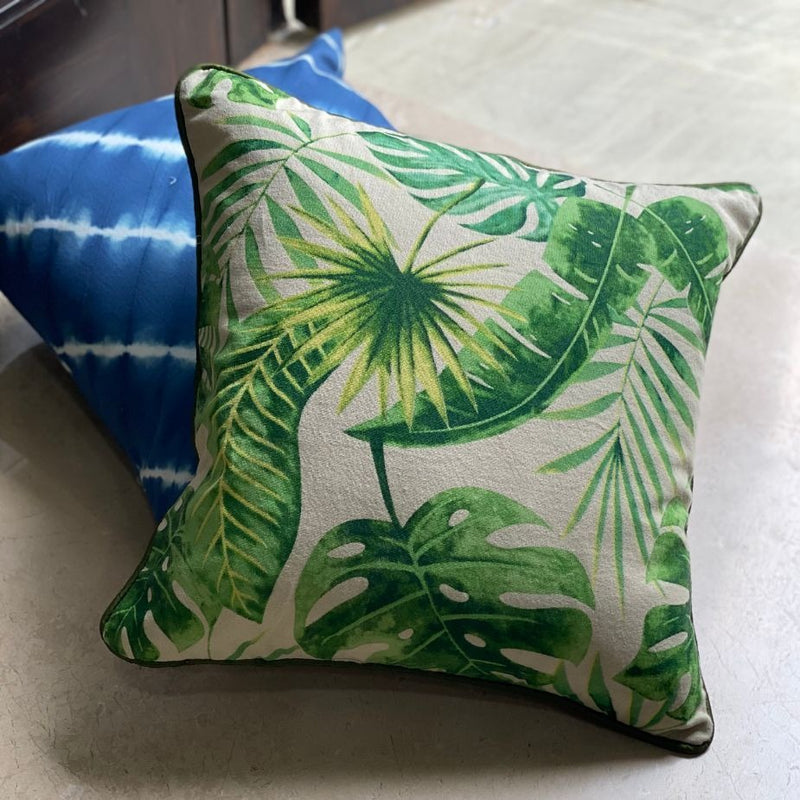 Cushion Cover - Palm Leaf-HOME ACCESSORIES-PropShop24.com