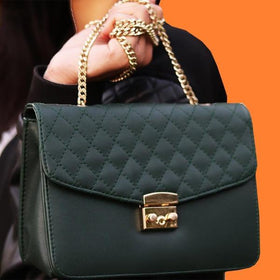 Sling - Quilted - Green-FASHION-PropShop24.com