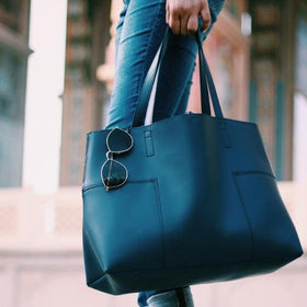 Signature Navy Blue Tote-FASHION-PropShop24.com