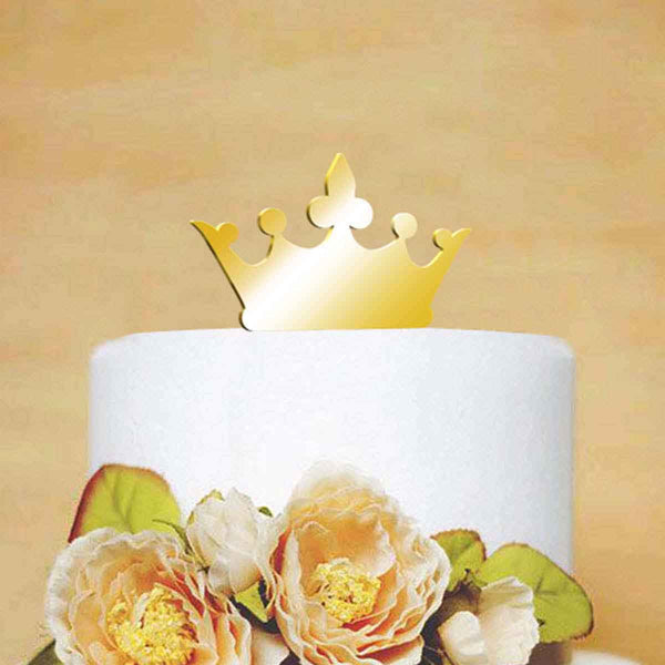 Cake Topper - Gold Crown-Home-PropShop24.com