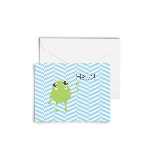 Card with Envelope - Hello Lil Monster-Stationery-PropShop24.com