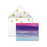 Card with Envelope - Water Colour strokes - Congratulations-Stationery-PropShop24.com