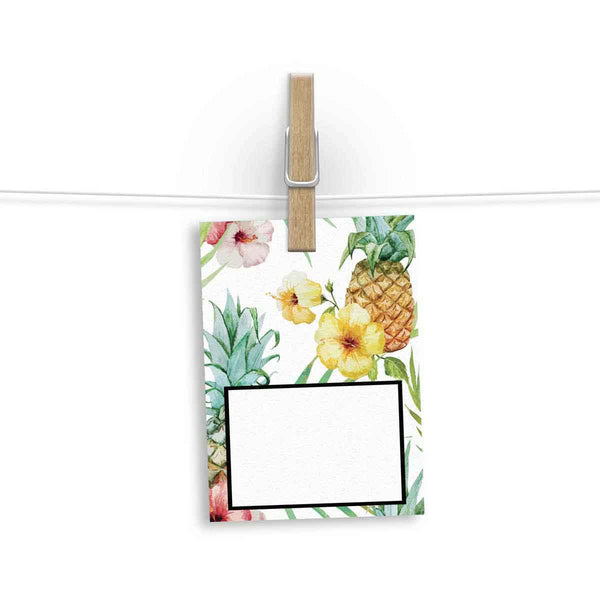 Gift Tag - Pretty Pineapple patterned - Set Of 12-Stationery-PropShop24.com