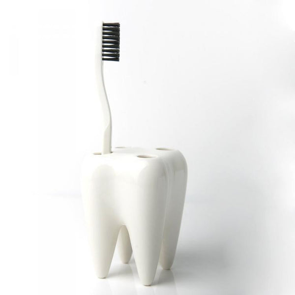 Toothbrush Holder - Toothshaped - White-Home-PropShop24.com