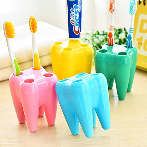 TOOTHBRUSH HOLDER - TOOTHSHAPED - YELLOW-Home-PropShop24.com