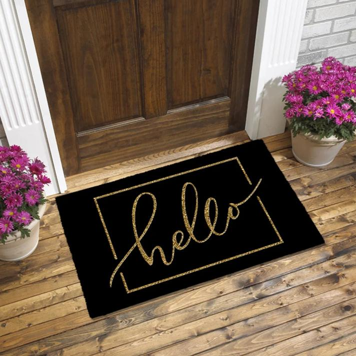 Door Mat - Hello Glitter-HOME ACCESSORIES-PropShop24.com