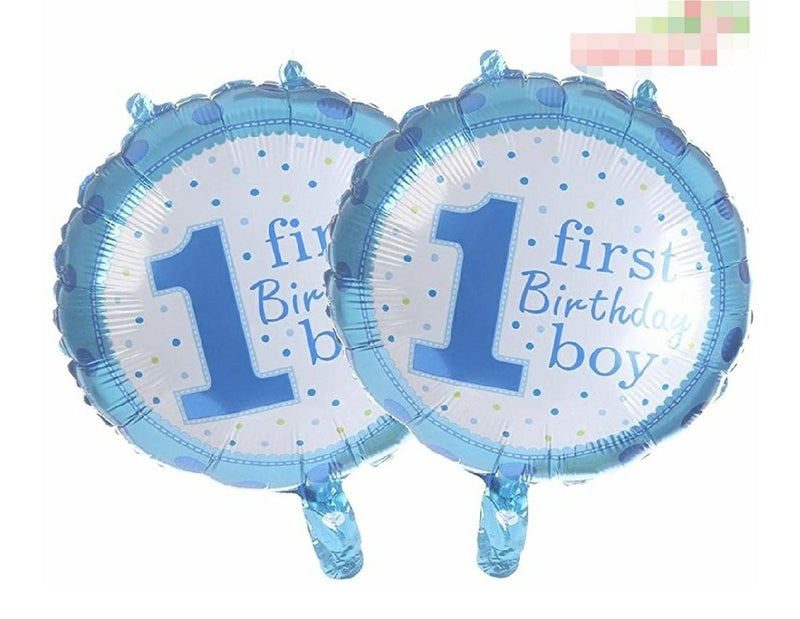 1St Birthday Boy Foil Balloon Blue-BAR + PARTY-PropShop24.com