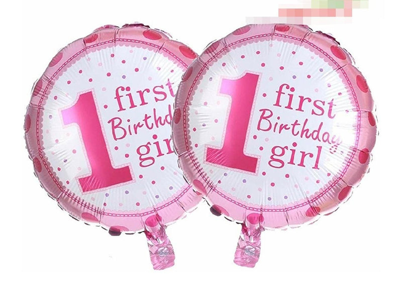 1St Birthday Girl Foil Balloon Pink-BAR + PARTY-PropShop24.com