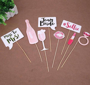 Bachelorette Party Stick Props Set - Rose Gold-BAR + PARTY-PropShop24.com