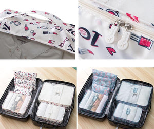 Travel Packing Kit - Set Of 6 Pouches-TRAVEL ESSENTIALS-PropShop24.com