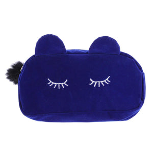 Travel Cosmetic Pouch Organizer - Cat With Fur Ball Keychain-WOMEN-PropShop24.com
