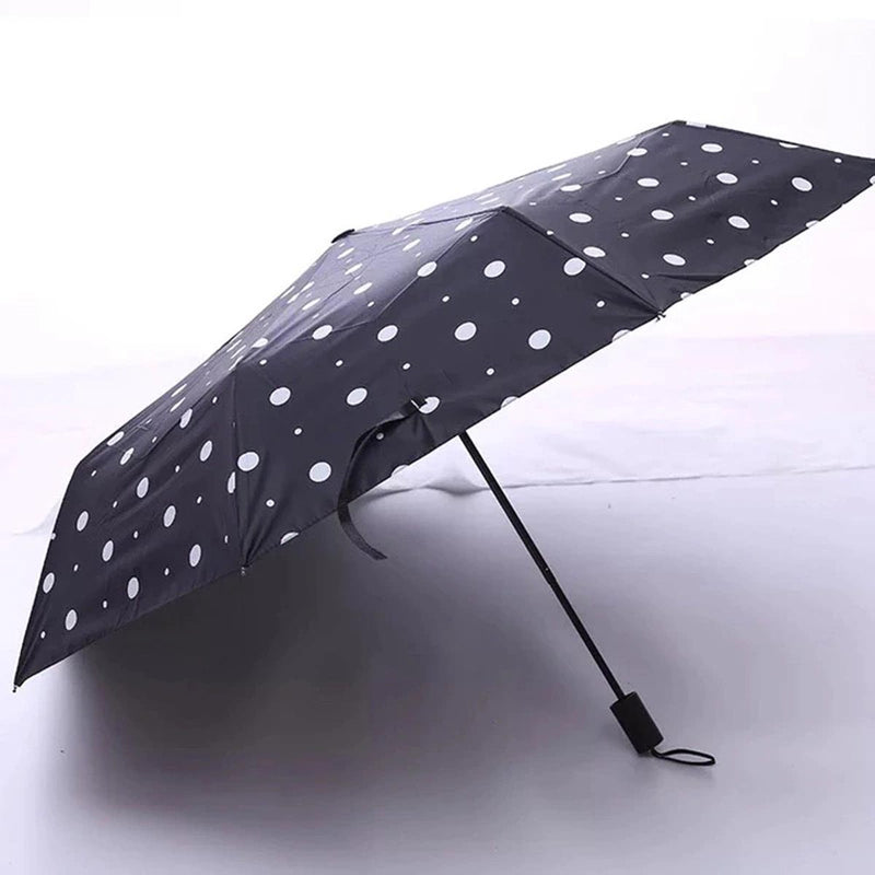 Umbrella - 3 Fold Automatic - Polka Dots-TRAVEL ESSENTIALS-PropShop24.com