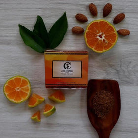 Handcrafted Luxury Tangy Orange Soap - 125 gm-BEAUTY-PropShop24.com