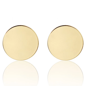 Earrings - Round - Gold-JEWELLERY-PropShop24.com