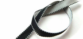 Black- White Ribbon-STATIONERY-PropShop24.com