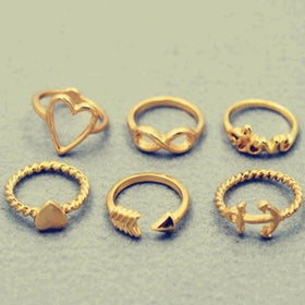 Love ring - set of 6-JEWELLERY-PropShop24.com