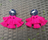 Earrings - Flamingo Tassel-JEWELLERY-PropShop24.com