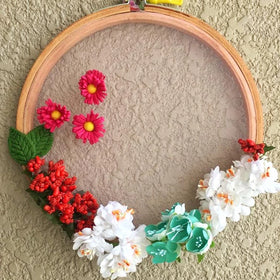 Wall Decor Floral Hoops-HOME-PropShop24.com