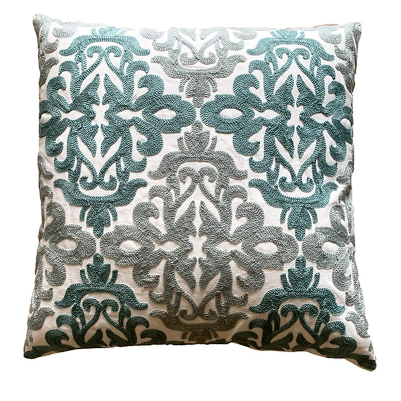 Cushion Cover - Turquoise Damask-HOME ACCESSORIES-PropShop24.com