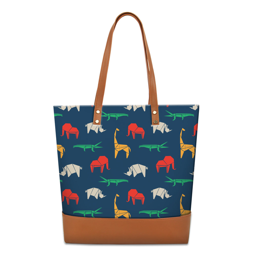 Tote Bag Origami Wildlife