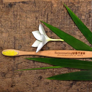 Bamboo Toothbrush - Yellow Colour-BATHROOM ESSENTIALS-PropShop24.com