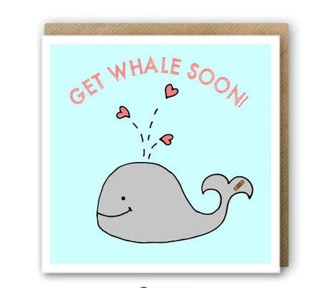 greeting card - get whale soon