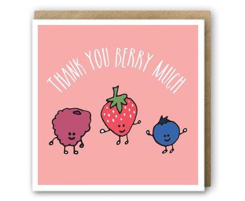 greeting card - thank you berry much