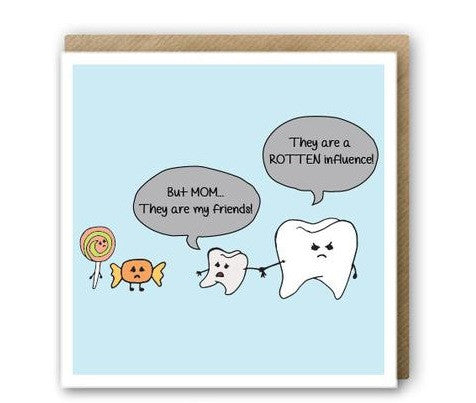 greeting card - tooth decay