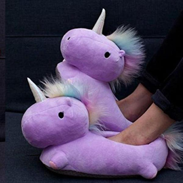 Unicorn Slippers - Purple-PERSONAL-PropShop24.com