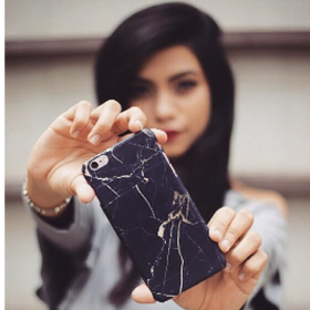 phone cover - marble - black and gold-Gadgets-PropShop24.com