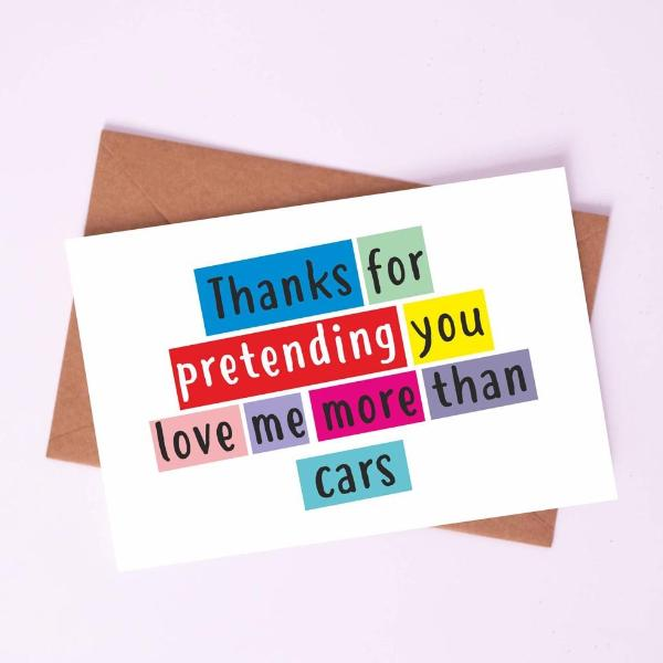 Greeting Card - Me More than Cars-STATIONERY-PropShop24.com