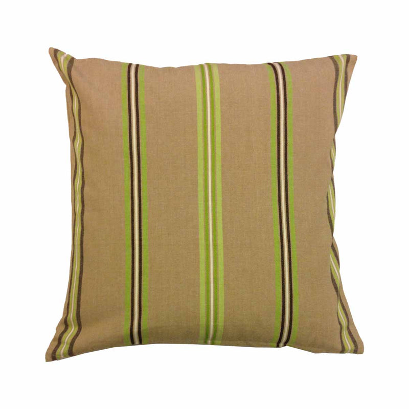 Cushion Cover - Beige with Green Stripes-HOME ACCESSORIES-PropShop24.com