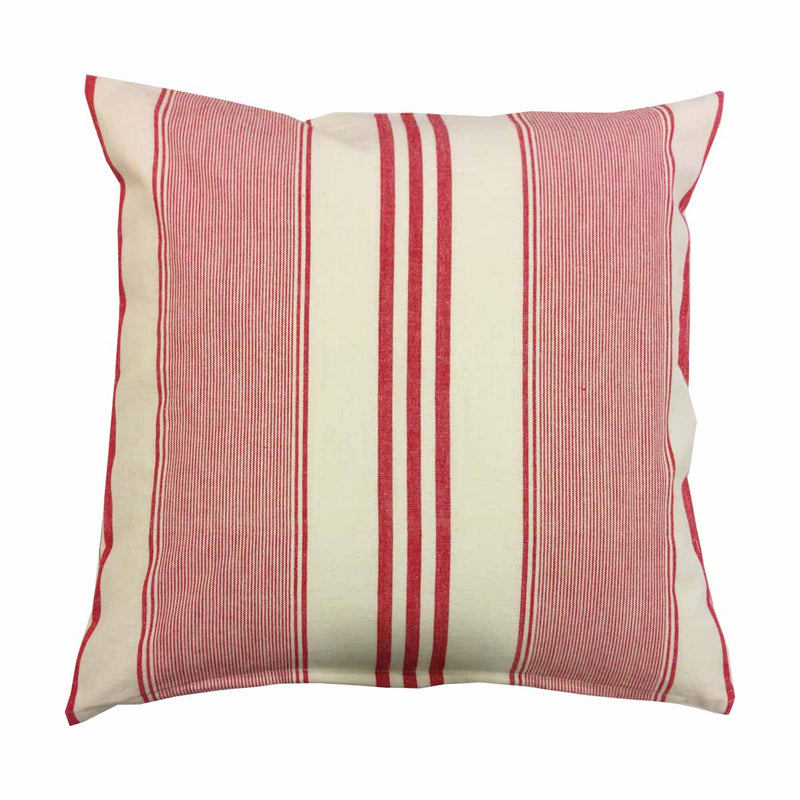 Cushion Cover - White and Red Stripes-HOME ACCESSORIES-PropShop24.com