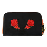 Wallet - Blue Double Flower Rose-FASHION-PropShop24.com