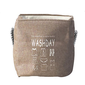 WASHDAY Laundry StorageBasket - Brown-HOME-PropShop24.com