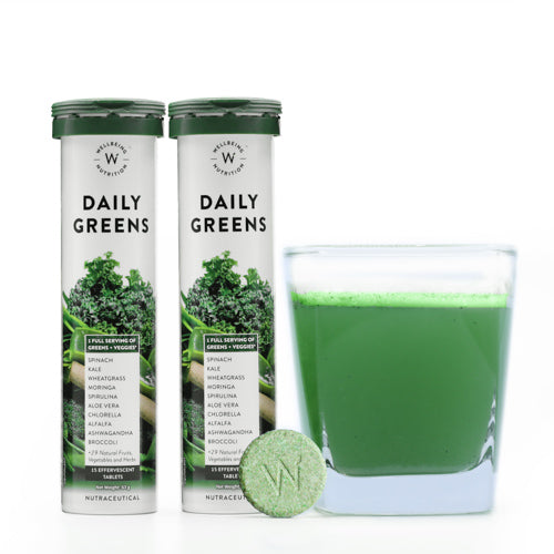 Daily Greens - Multivitamin And Multi-Mineral - 15 Effervescent Tablets - Set Of 2-TEA + COFFEE + BEVERAGES-PropShop24.com