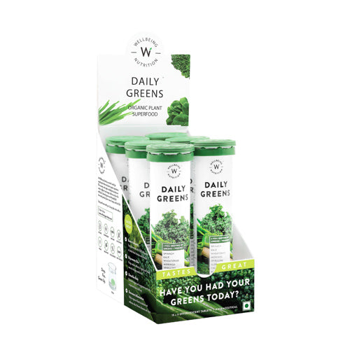 Daily Greens - Multivitamin And Multi-Mineral - 15 Effervescent Tablets - Set Of 6-TEA + COFFEE + BEVERAGES-PropShop24.com