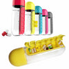 Water Bottle With Pill Box - Yellow-DINING + KITCHEN-PropShop24.com