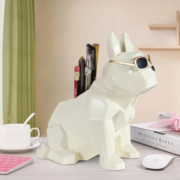 DOG Pen Stand - White-STATIONERY-PropShop24.com