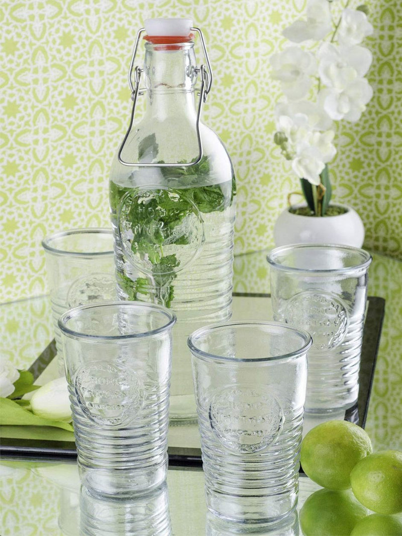 Elementary Drink Set - Bottle And Glasses - Set Of 5-BAR + PARTY-PropShop24.com
