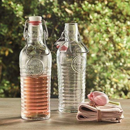 Glass Bottle With Clip Top - Transparent - 1100ml-DINING + KITCHEN-PropShop24.com