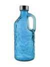 Glass Bottle With Handle - Textured - 1000ml-DINING + KITCHEN-PropShop24.com