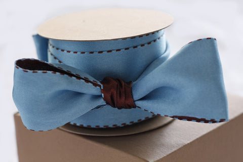 RIBBON - wired - blue and brown-Stationery-PropShop24.com