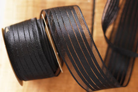 Ribbon - Wired - Black And Satin Stripes-Stationery-PropShop24.com