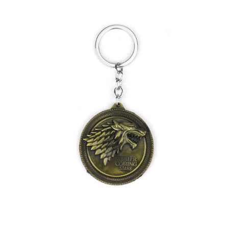 Keychain - Winter Is Coming - Brass-FASHION-PropShop24.com