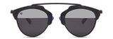 Clubmaster Glossy Silver Polarized Reflector Sunglasses-FASHION-PropShop24.com
