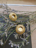 Earrings - Gold Plated Mirror Studs-JEWELLERY-PropShop24.com