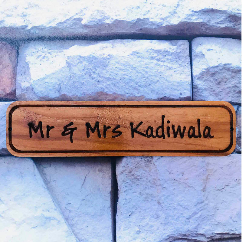Personalized - Wooden Name Plate - C.O.D Not Available-HOME ACCESSORIES-PropShop24.com