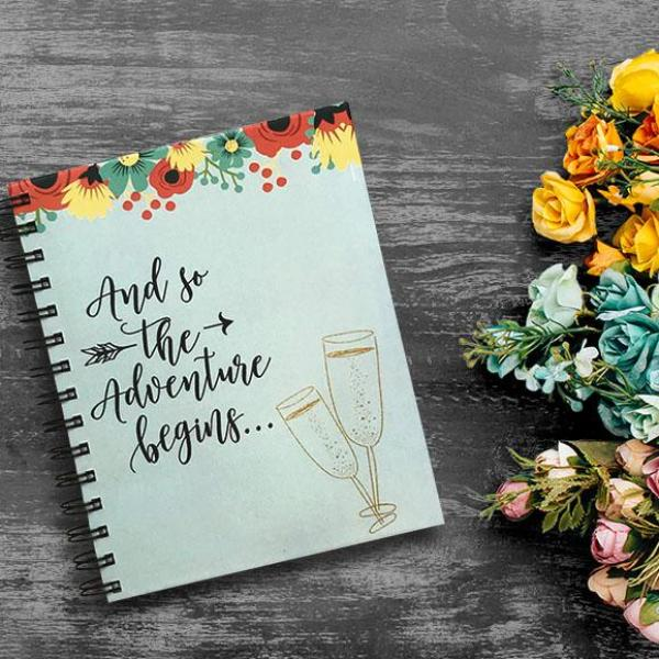 Wedding Planner- Adventure Begins-NOTEBOOKS + JOURNALS-PropShop24.com